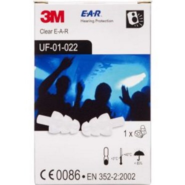 Image of   3m clear e-a-r ørepropper 1 par
