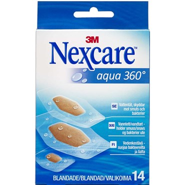 Image of   3M Nexcare Aqua 360° strips 3 str. 14 stk