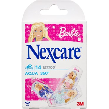 Image of 3M Nexcare Aqua 360° tattoo Barbie 14 stk