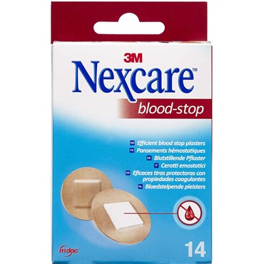 Image of   3M Nexcare Blood-Stop Runde Plastre 14 stk