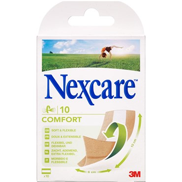 Image of   3M Nexcare Comfort strips band 6x10 cm 10 stk
