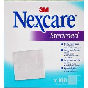 Image of 3m nexcare gaze­kompres steril 100 stk