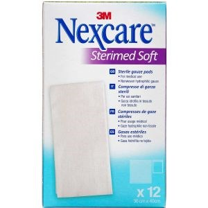 Image of   3m nexcare gaze­kompres steril 12 stk