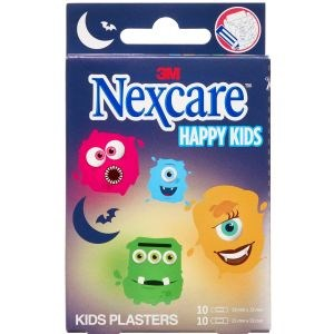 Image of   3m nexcare happy kids monster 20 plasterst