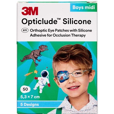 3M Opticlude Skeleplaster Boy Medi 5,3x7,0 cm 50 stk thumbnail