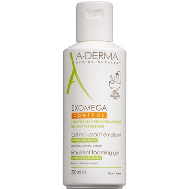 Image of   A-Derma Exomega CONTROL Foaming gel 200 ml