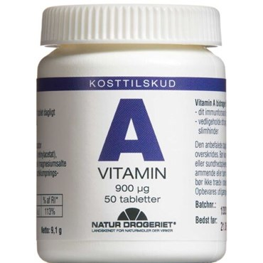A-Vitamin 3000 IE tabletter 50 stk thumbnail