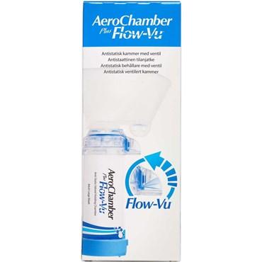 Image of   Aerochamber Plus Flow-vu maske voksen Large blå 1 lblåst