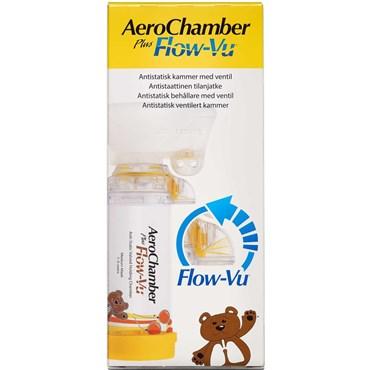 Aerochamber PlusFlow VU medium gul 1-5 år 1 g thumbnail