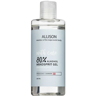Allison Håndsprit Gel 80% 250 ml