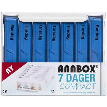 Image of   Anabox compact 7 dage blå 1 stk