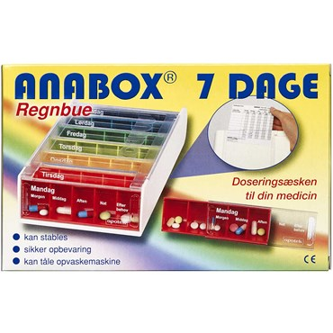 Image of Anabox Doseringsæske ugebox 1 stk