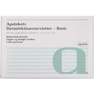 Apotekets Desinfektionsservietter 20 stk thumbnail