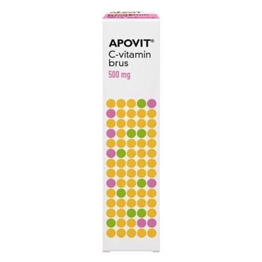Image of Apovit C-vitamin stærk brus - hindbærsmag 20 stk