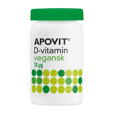 Image of   Apovit d-vitamin tabletter 10 mikg 100 veganst
