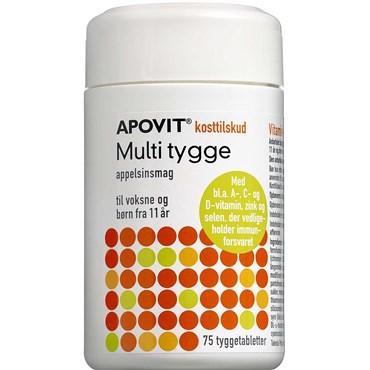 Image of Apovit Multi Tyggetablet med appelsinsmag 75 stk