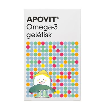 Image of   Apovit Omega-3 geléfisk 30 stk