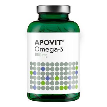 Image of   Apovit omega 3 kaps 1000 mg 180 stk