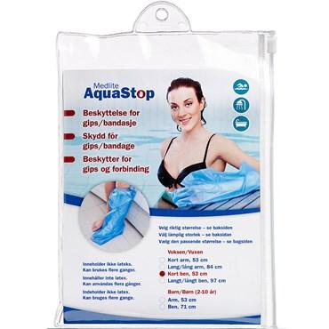 Image of   Aquastop beskyttelse voksen, ben, kort 1 stk