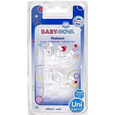 BABY-NOVA Flaskesut Rund (0-24 mdr) 2 stk thumbnail