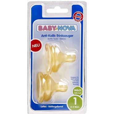 Image of   Baby-Nova flaskesut til wide-neck (0 - 3 mdr) 2 stk
