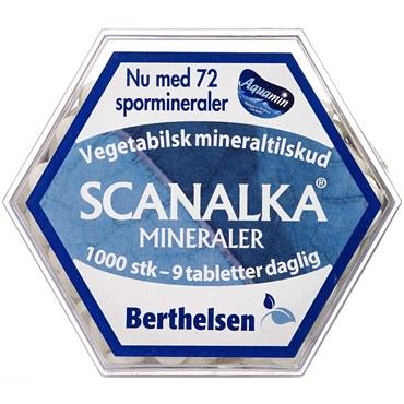 Berthelsen Scanalka Mineral Tabletter 1000 stk thumbnail