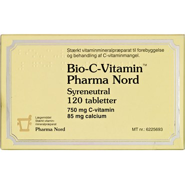 Bio-C-Vitamin syreneutral tabletter 120 stk thumbnail