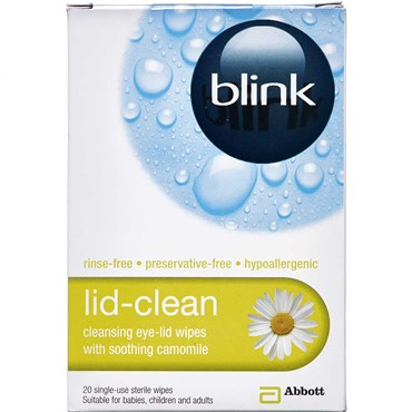 Image of   Blink Lid-clean wipes 20 stk
