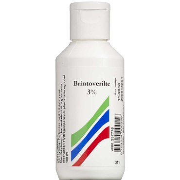 Image of   Brintoverilte 3 % opløsning S.A. 100 ml