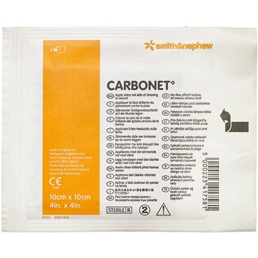 Image of   Carbonet absorberende forbinding 10 x 10 cm 1 stk