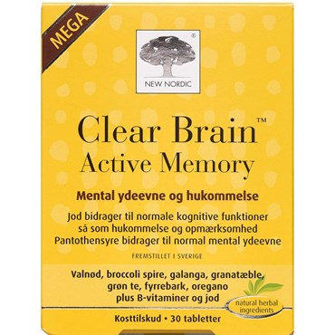 Image of   Clear brain active memory tabl 30 stk