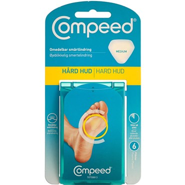 Image of   Compeed Hård Hud plaster medium 6 stk