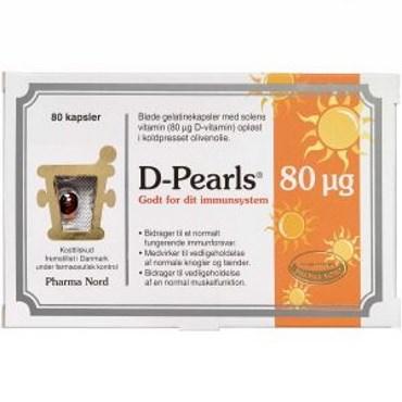 Image of   D-pearls 80 mikg kapsler 80 stk