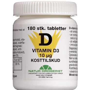 Image of   D3 Vitamin 400 IE 180 stk