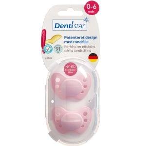 Image of   Dentistar skånesut nat.g 0-6 mdr. Ass. farver 2 stk