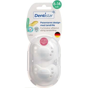 Image of   Dentistar skånesut nat.g 6-14 mdr. Ass. farver 2 stk