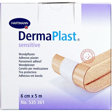 Image of   DermaPlast Sensitive plaster 6 cm x 5 m 1 stk