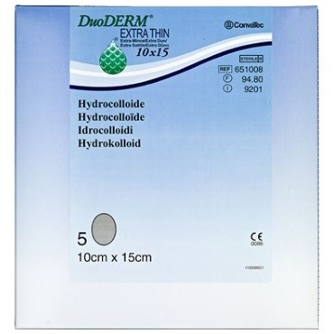 Image of   Duoderm Extra Tynd 15 x 10 cm 5 stk