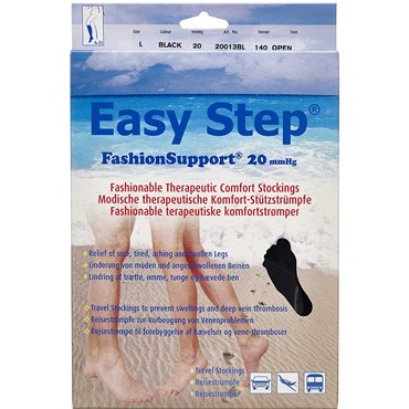 Image of   Easy Step knæ åben tå sort L 1 par