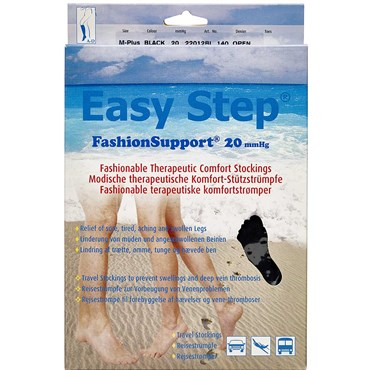 Image of   Easy Step knæ åben tå sort M+ 1 par