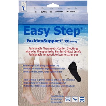 Image of   Easy Step knæ åben tå sort S 1 par