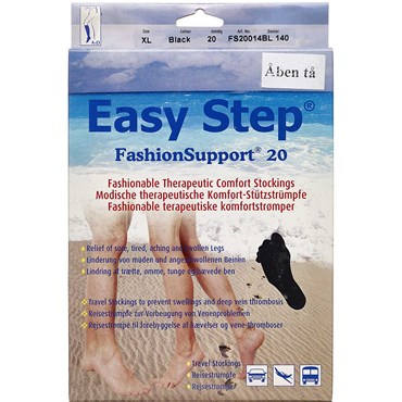 Image of   Easy Step knæ åben tå sort XL 1 par