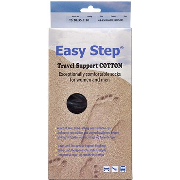Easy Step knæ travel cotton sort 43-45 1 par thumbnail