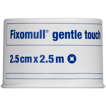 Image of   Fixomull Gentle Touch 2,5 x 2,5 cm tape 1 stk