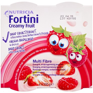 Fortini Creamy Fruit Bær & Frugt 4 x 100 g thumbnail