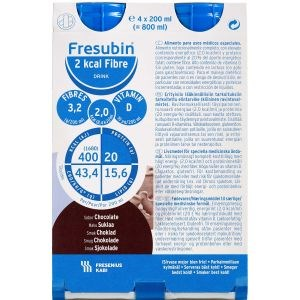 Image of   Fresubin 2 kcal fiber dr choko 4 x 200 ml