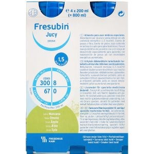 Image of   Fresubin jucy drink æble 4 x 200 ml