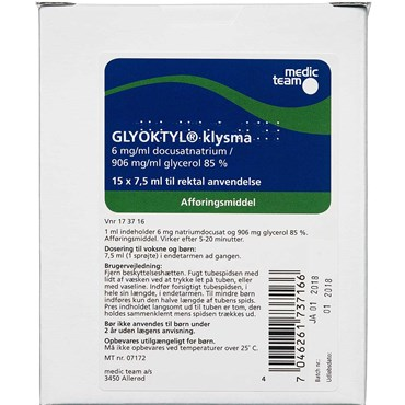 Image of   Glyoktyl 112,5 ml Klysma