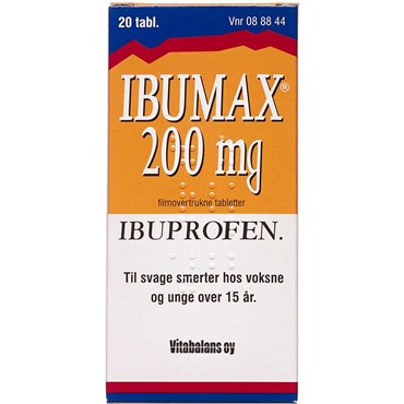 Ibumax 200 mg 20 stk Filmovertrukne tabletter thumbnail