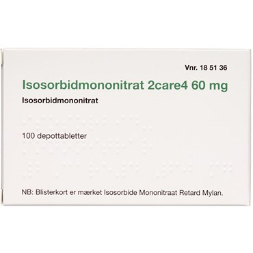 """Image of Isosorbidmononitrat """"2care4"""" 100 stk Depottabletter"""